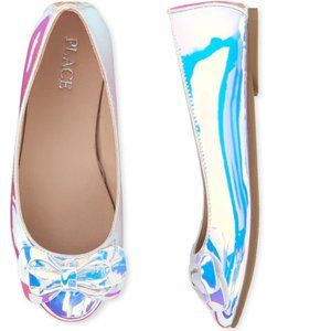 New Childrens Place Holographic Ballet Flats